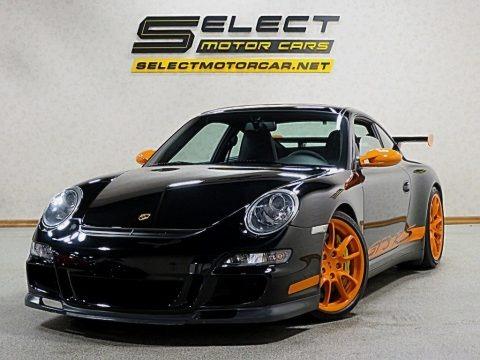 Black/Orange 2007 Porsche 911 GT3 RS