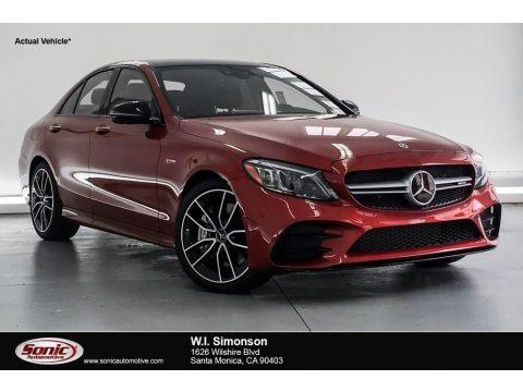 designo Cardinal Red Metallic 2019 Mercedes-Benz C 43 AMG 4Matic Sedan