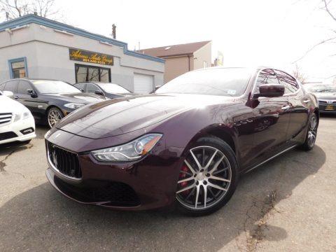 Rosso Folgore (Dark Red) 2014 Maserati Ghibli S Q4