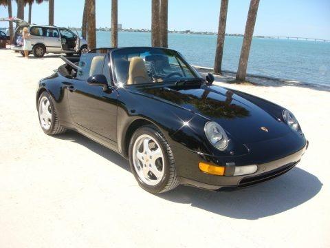 Black 1996 Porsche 911 Carrera Cabriolet