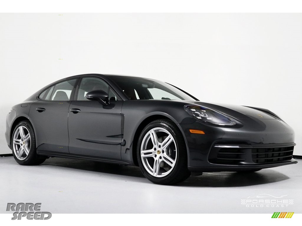 2019 Panamera 4 - Volcano Grey Metallic / Black/Bordeaux Red photo #1