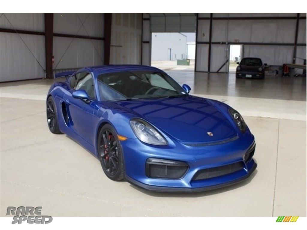 Sapphire Blue Metallic / Black Porsche Cayman GT4