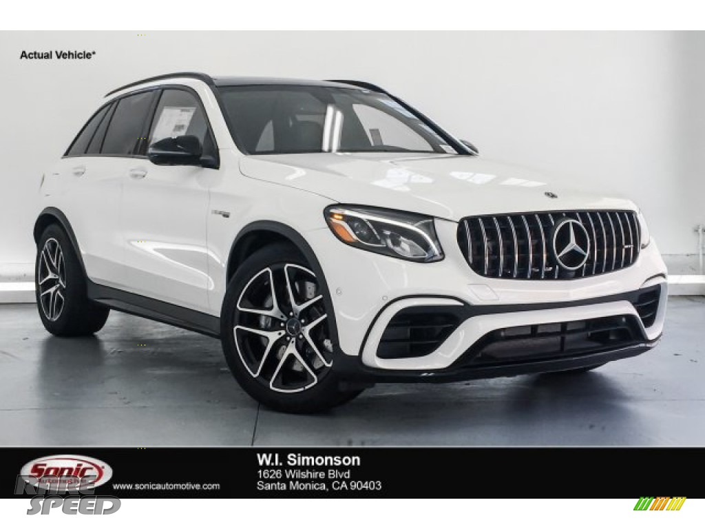 2018 GLC AMG 63 4Matic - Polar White / Black photo #1