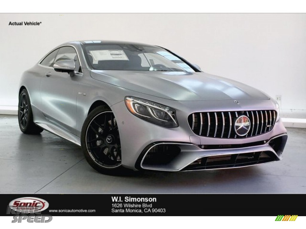 2019 S AMG 63 4Matic Coupe - designo Allanite Grey Magno (Matte) / Black photo #1