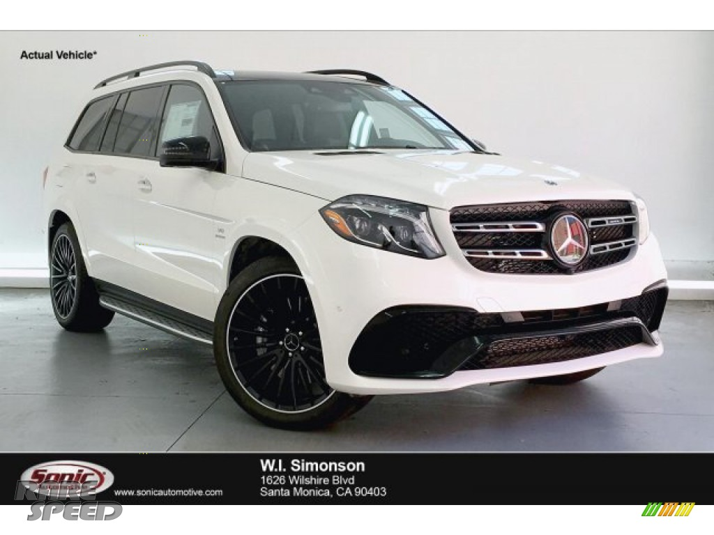 2019 GLS 63 AMG 4Matic - designo Diamond White Metallic / Black photo #1