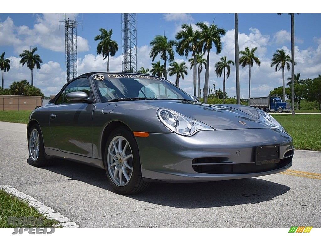 2003 911 Carrera Cabriolet - Seal Grey Metallic / Black photo #1