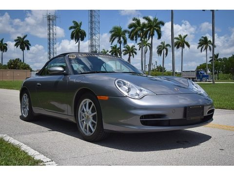 Seal Grey Metallic 2003 Porsche 911 Carrera Cabriolet