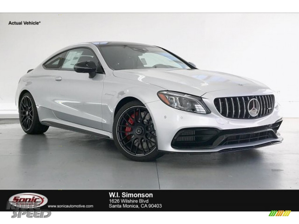 2019 C AMG 63 S Coupe - Iridium Silver Metallic / Magma Grey/Black photo #1