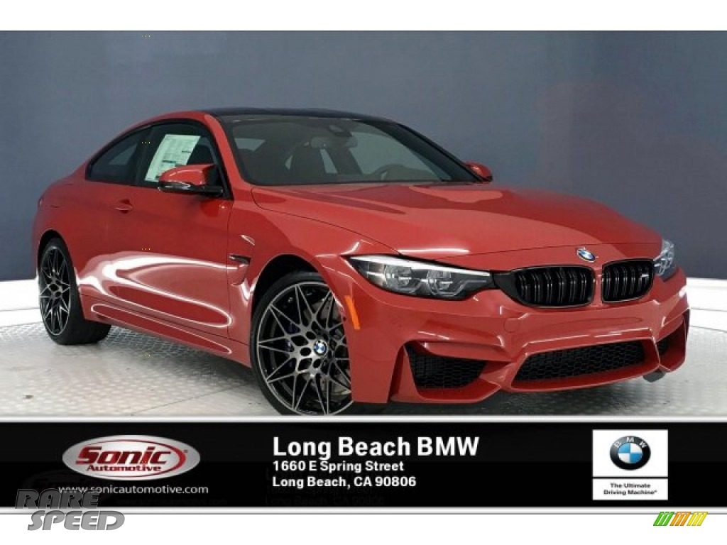 Melbourne Red Metallic / Black BMW M4 Coupe