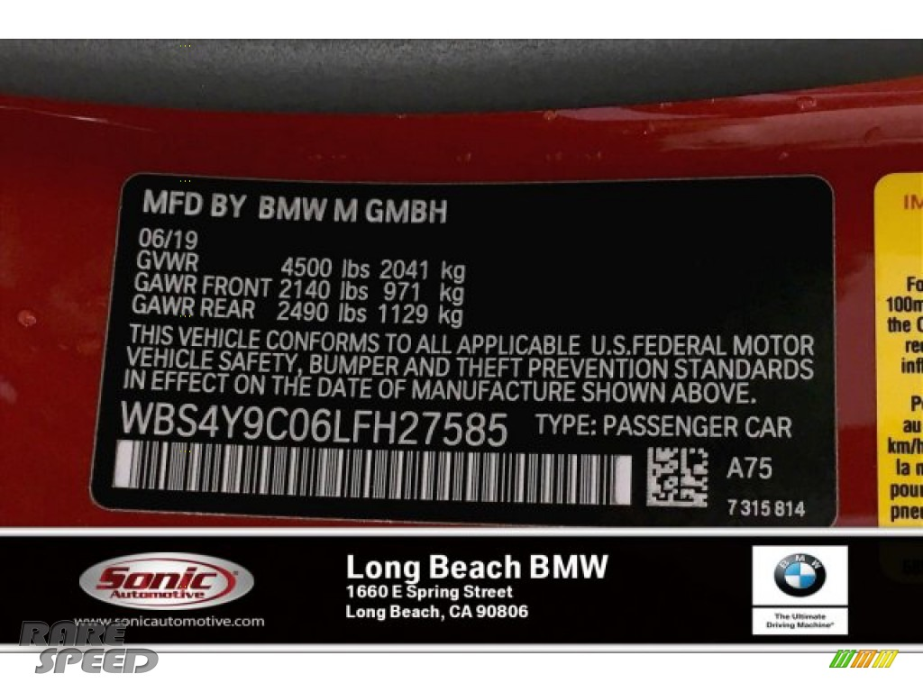 2020 M4 Coupe - Melbourne Red Metallic / Black photo #11