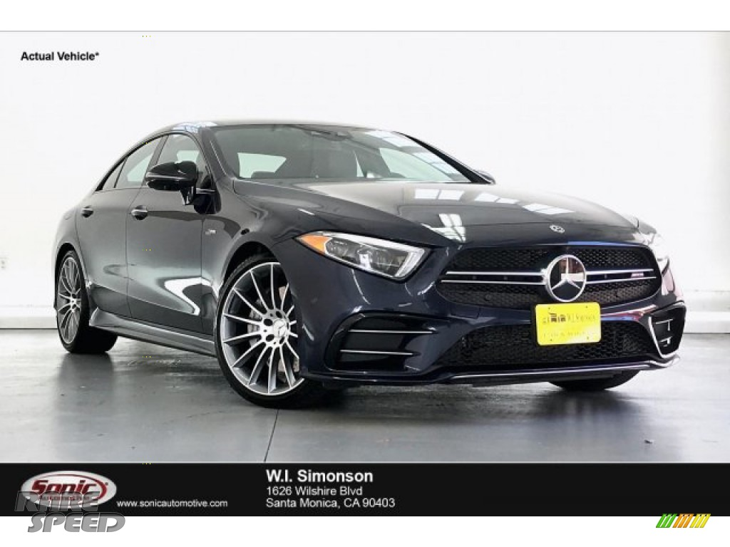 2019 CLS AMG 53 4Matic Coupe - Lunar Blue Metallic / Black photo #1