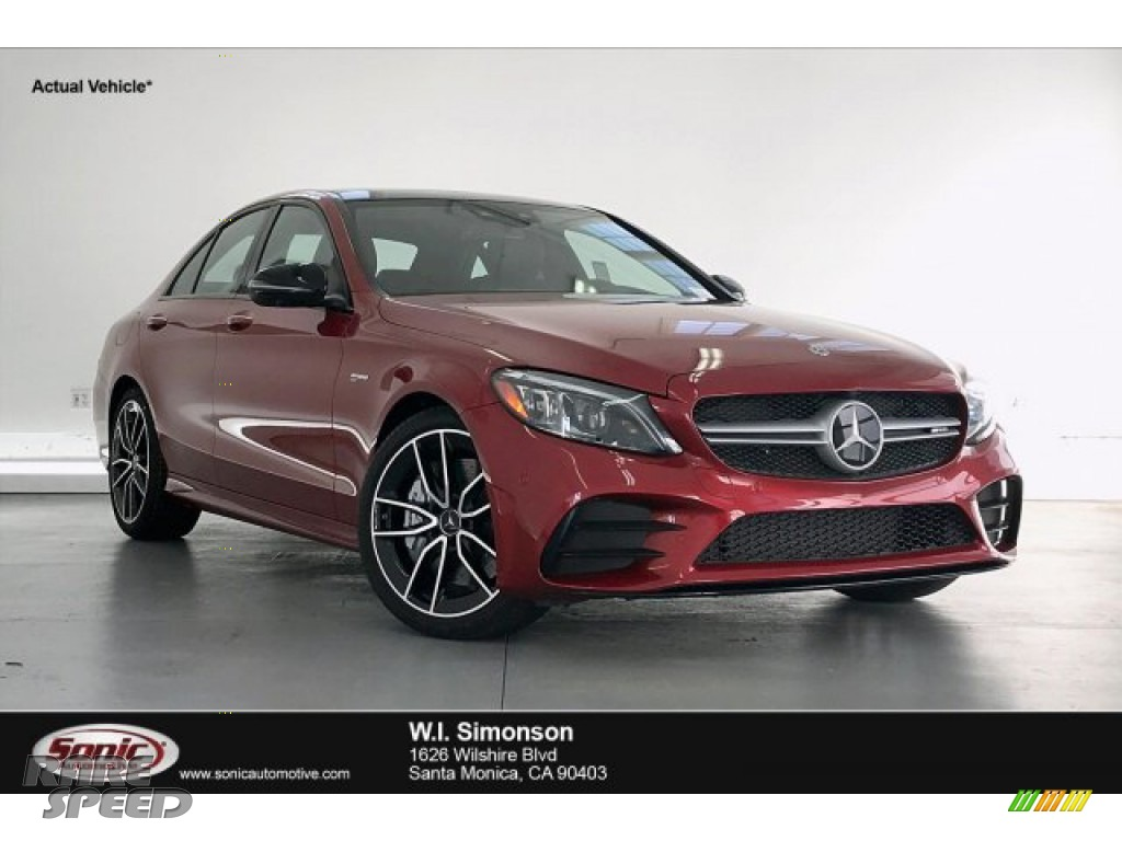 2019 C 43 AMG 4Matic Sedan - designo Cardinal Red Metallic / Black photo #1