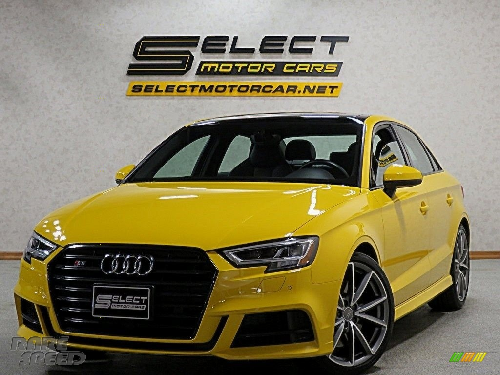2018 S3 2.0T Tech Premium Plus - Vegas Yellow / Black photo #1
