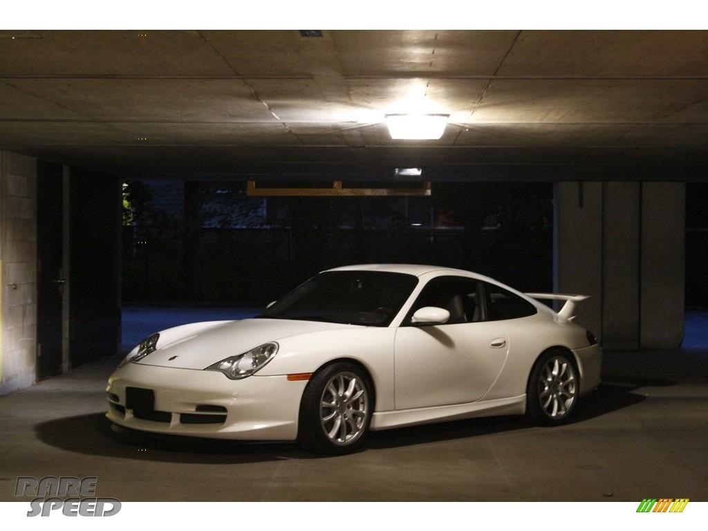 2004 911 GT3 - Carrara White / Black photo #1