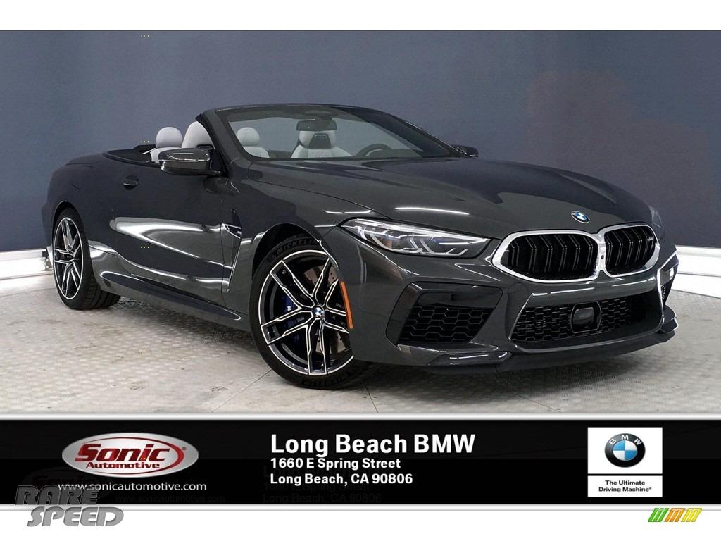 Dravit Grey Metallic / Silverstone BMW M8 Convertible
