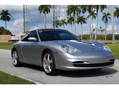 Arctic Silver Metallic 2002 Porsche 911 Carrera Coupe
