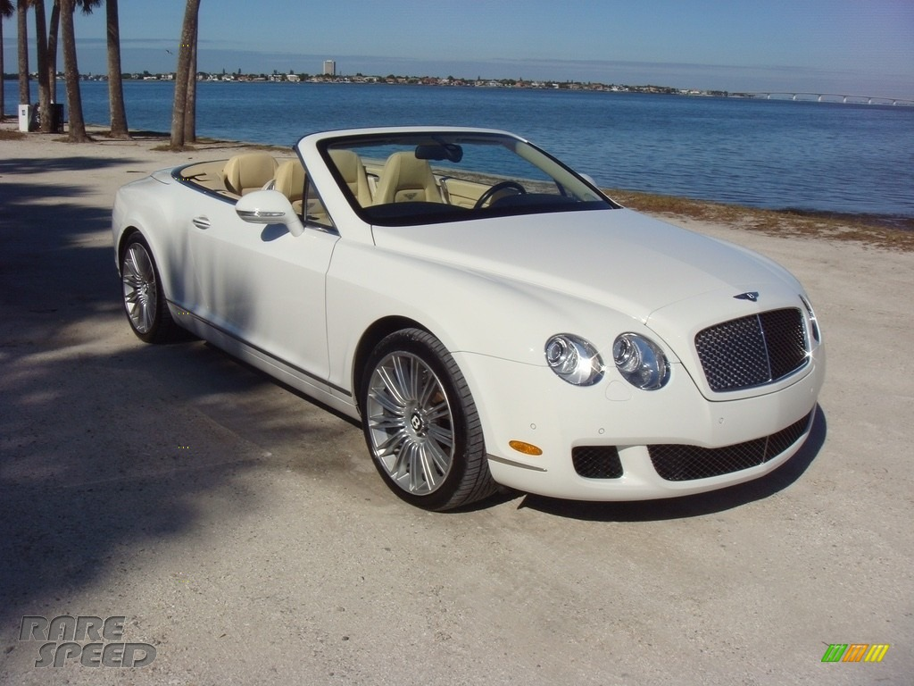 2010 Continental GTC Speed - Glacier White / Magnolia photo #1