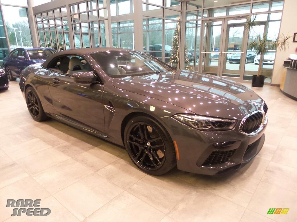 Brands Hatch Grey Metallic / Silverstone BMW M8 Convertible