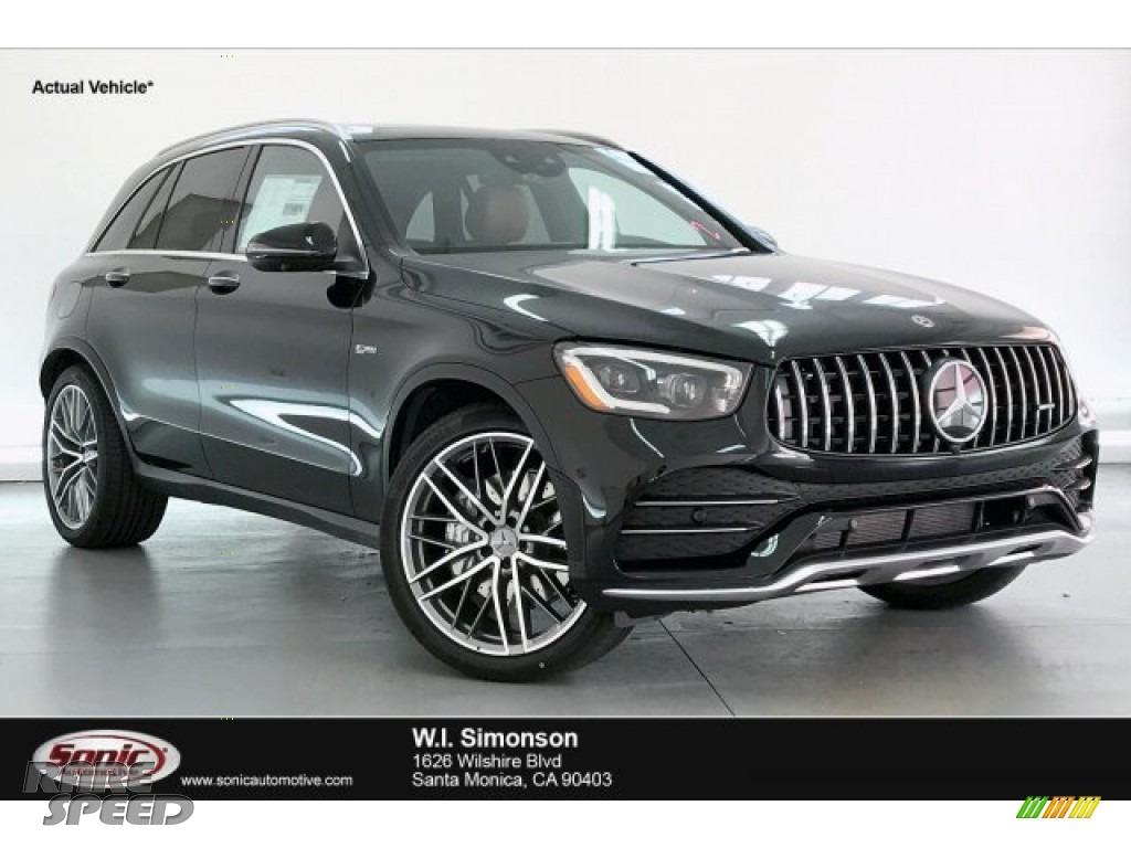 2020 GLC AMG 43 4Matic - Obsidian Black Metallic / AMG Saddle Brown/Black photo #1