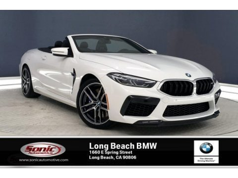 Alpine White 2020 BMW M8 Convertible