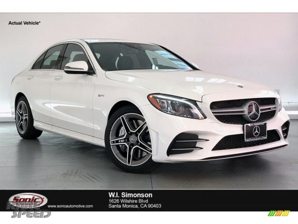 2020 C AMG 43 4Matic Sedan - Polar White / Black photo #1