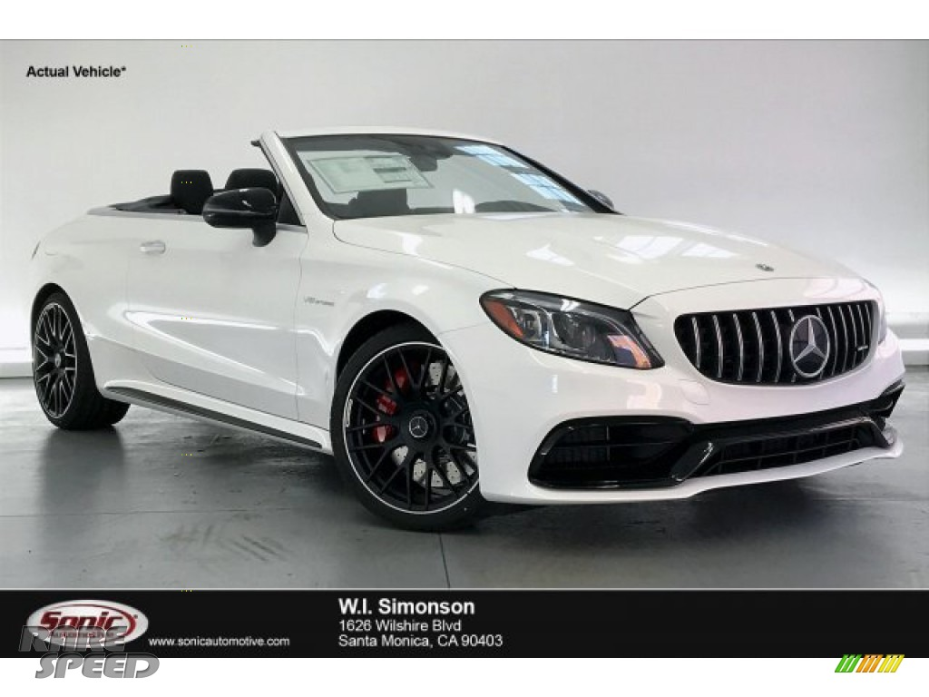 2020 C AMG 63 S Cabriolet - Polar White / Red Pepper/Black photo #1