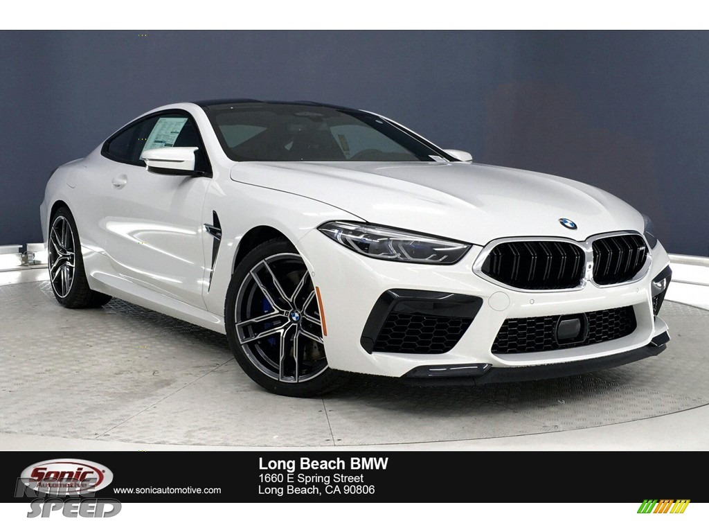 Alpine White / Black BMW M8 Coupe