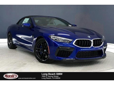 Marina Bay Blue Metallic 2020 BMW M8 Convertible