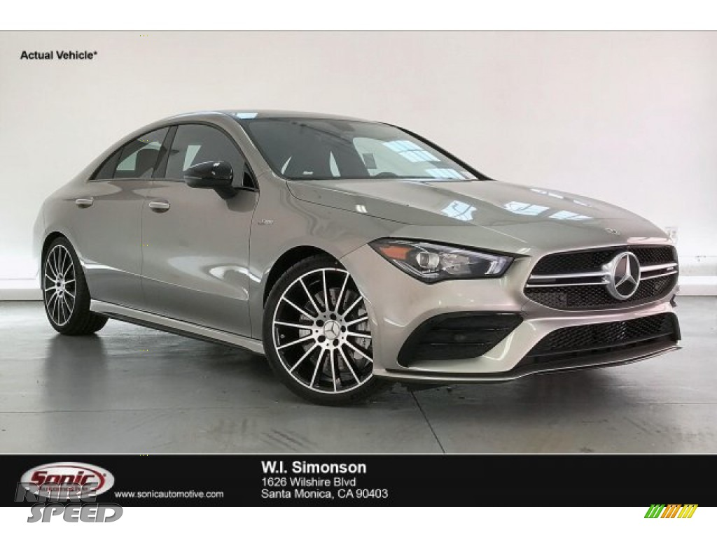 Mojave Silver Metallic / Neva Gray/Black Mercedes-Benz CLA AMG 35 Coupe