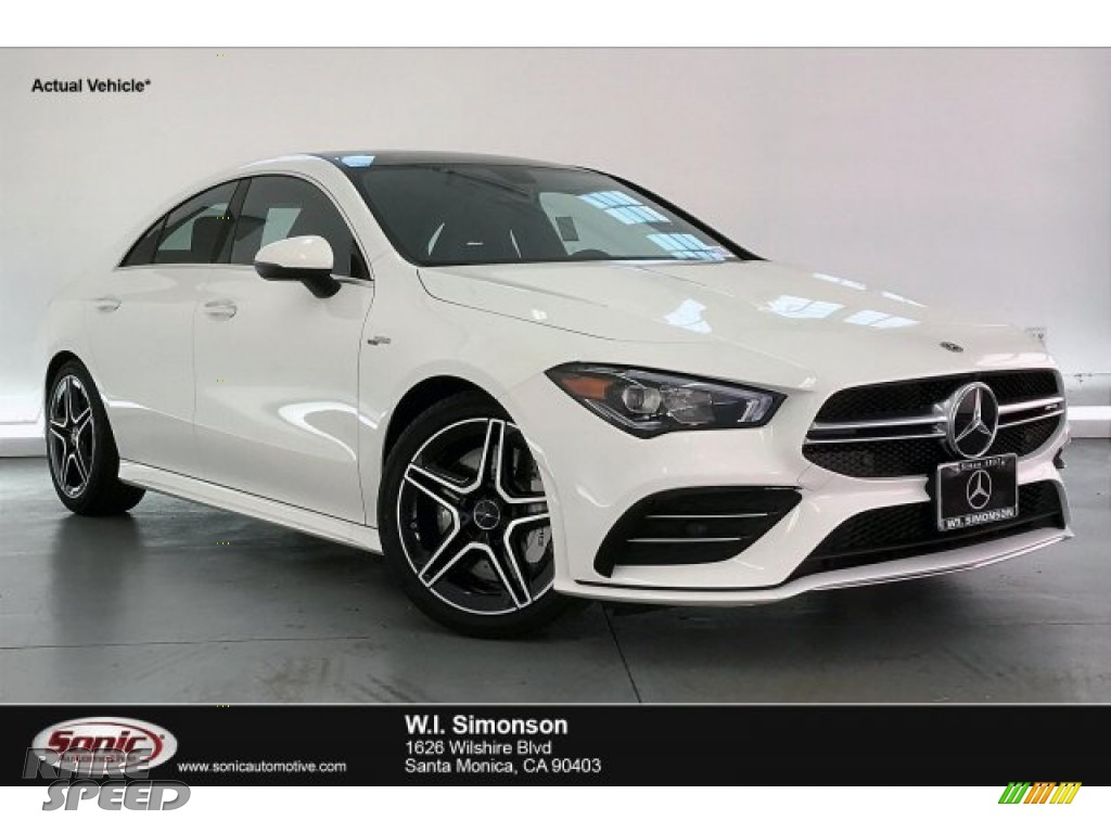 Polar White / Black Dinamica w/Red stitching Mercedes-Benz CLA AMG 35 Coupe