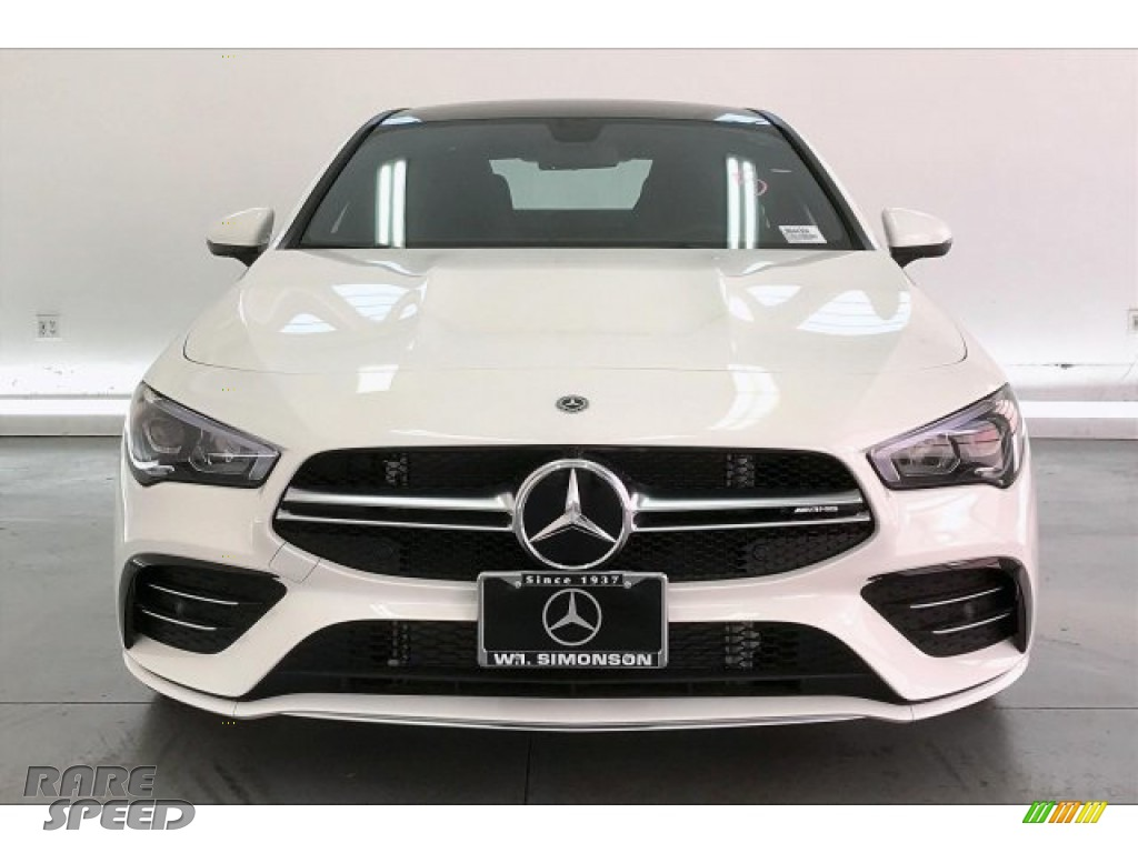 2020 CLA AMG 35 Coupe - Polar White / Black Dinamica w/Red stitching photo #2