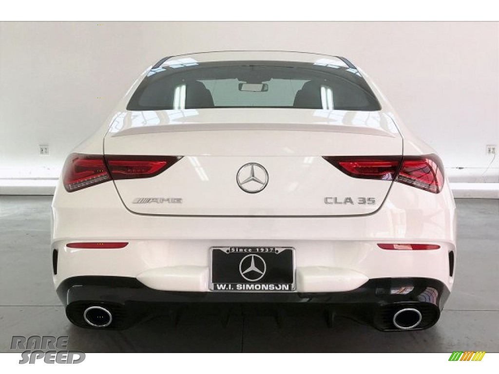 2020 CLA AMG 35 Coupe - Polar White / Black Dinamica w/Red stitching photo #3