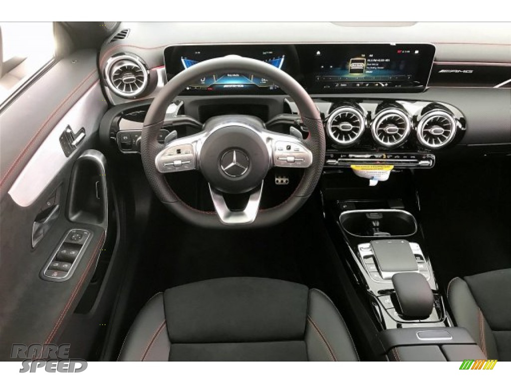 2020 CLA AMG 35 Coupe - Polar White / Black Dinamica w/Red stitching photo #4