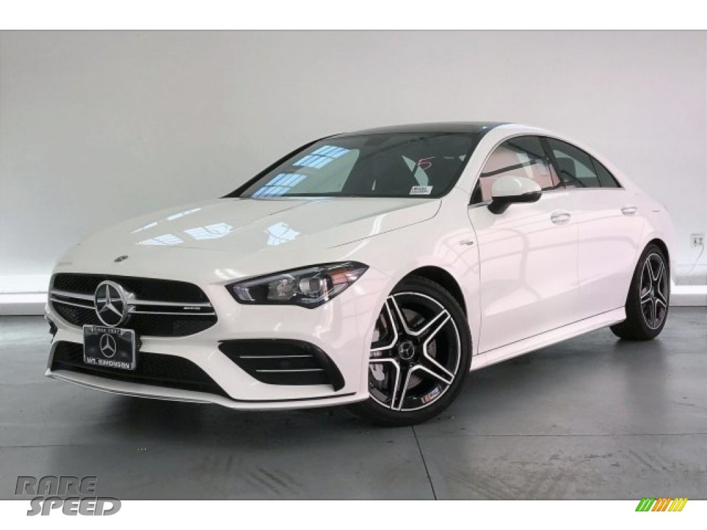 2020 CLA AMG 35 Coupe - Polar White / Black Dinamica w/Red stitching photo #12