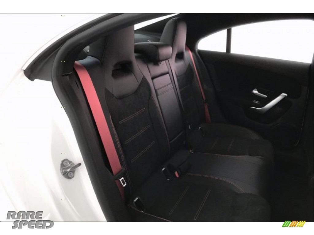2020 CLA AMG 35 Coupe - Polar White / Black Dinamica w/Red stitching photo #13
