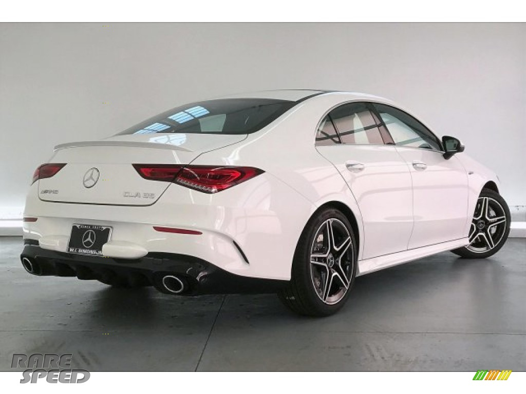 2020 CLA AMG 35 Coupe - Polar White / Black Dinamica w/Red stitching photo #16