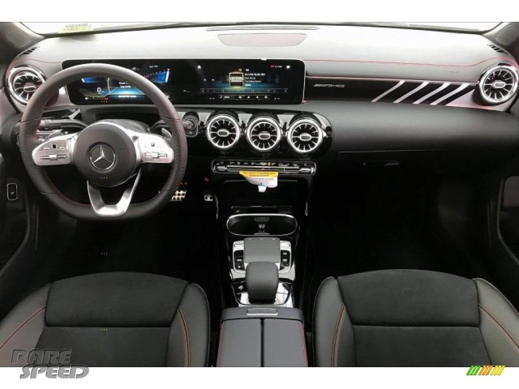 2020 CLA AMG 35 Coupe - Polar White / Black Dinamica w/Red stitching photo #17