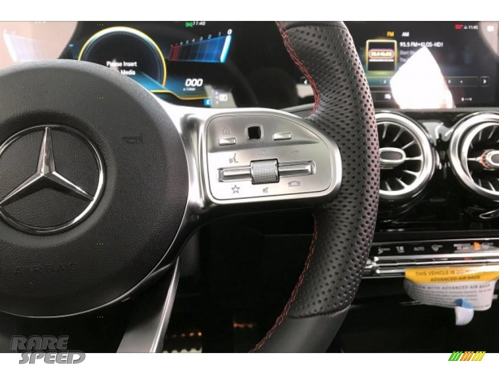2020 CLA AMG 35 Coupe - Polar White / Black Dinamica w/Red stitching photo #19