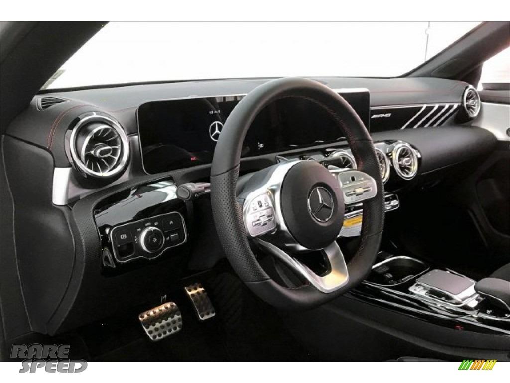 2020 CLA AMG 35 Coupe - Polar White / Black Dinamica w/Red stitching photo #22