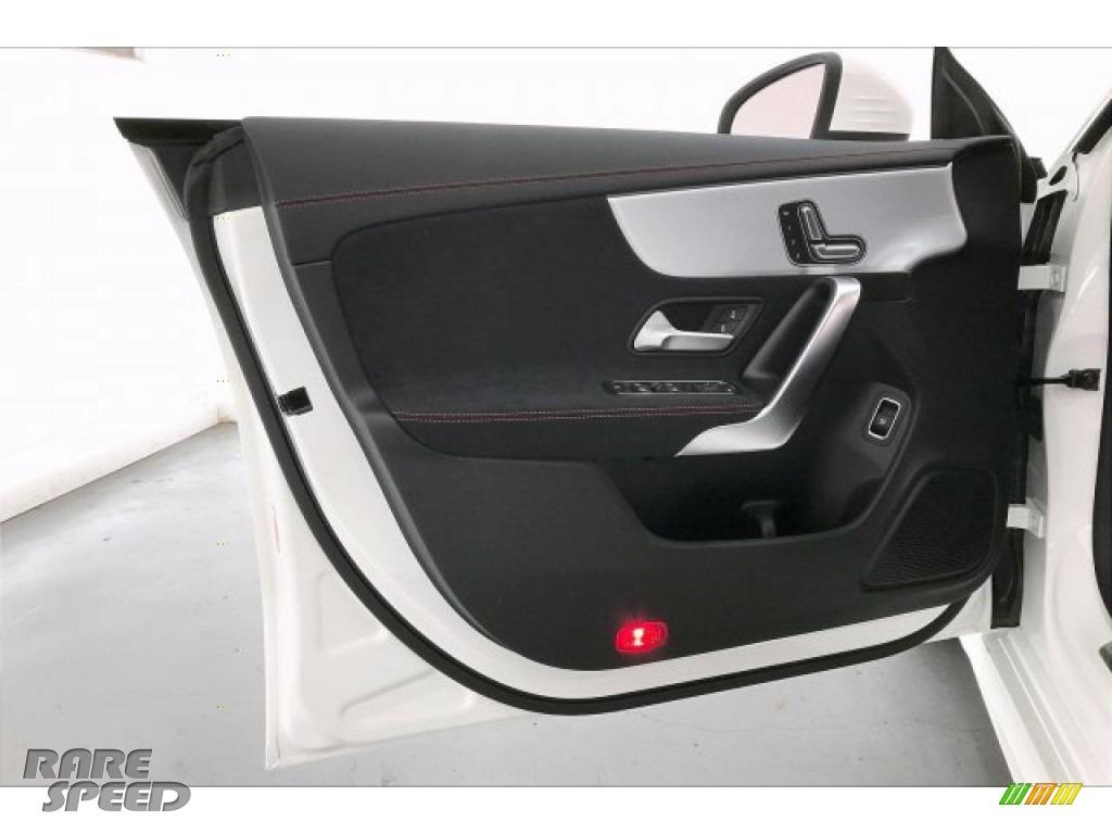 2020 CLA AMG 35 Coupe - Polar White / Black Dinamica w/Red stitching photo #25