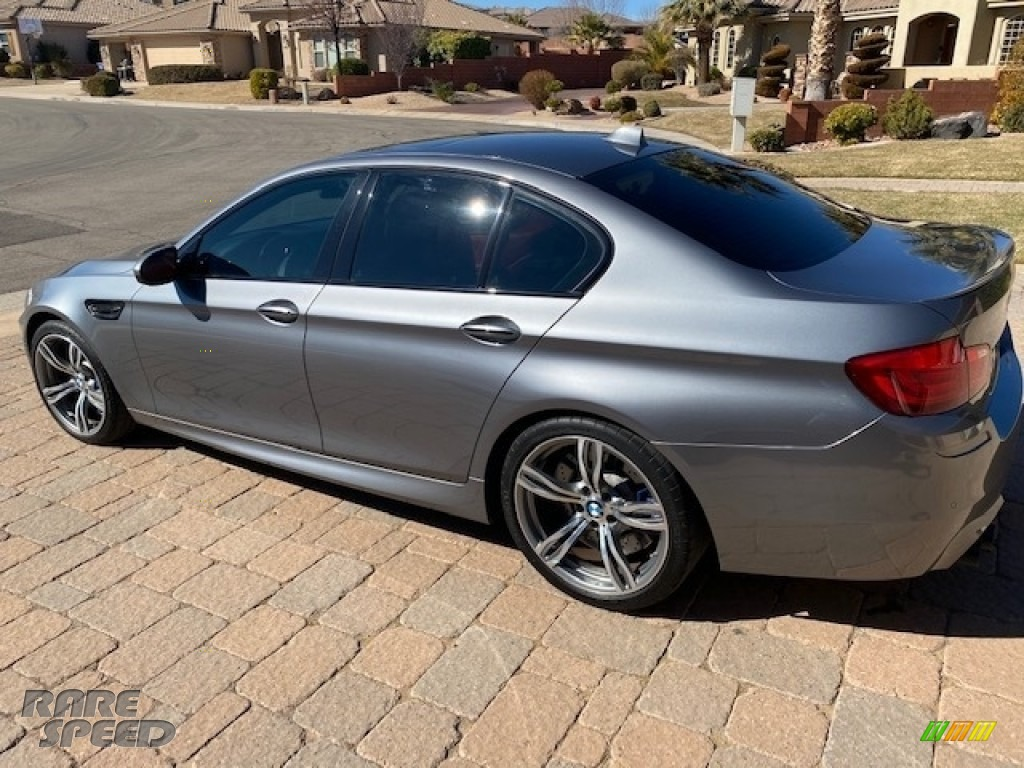 2013 M5 Sedan - BMW Individual Amazonite Silver Metallic / Sakhir Orange photo #1