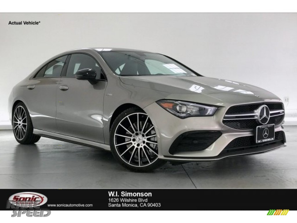 2020 CLA AMG 35 Coupe - Mojave Silver Metallic / Neva Gray/Black photo #1