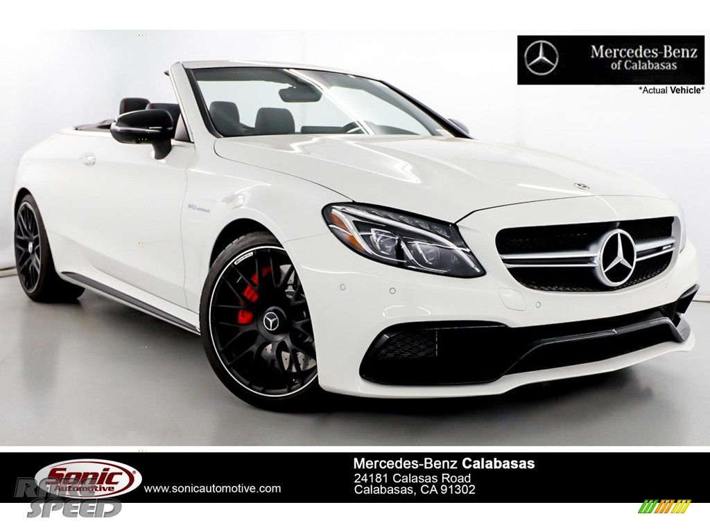 2018 C 63 S AMG Cabriolet - Polar White / Red Pepper/Black photo #1