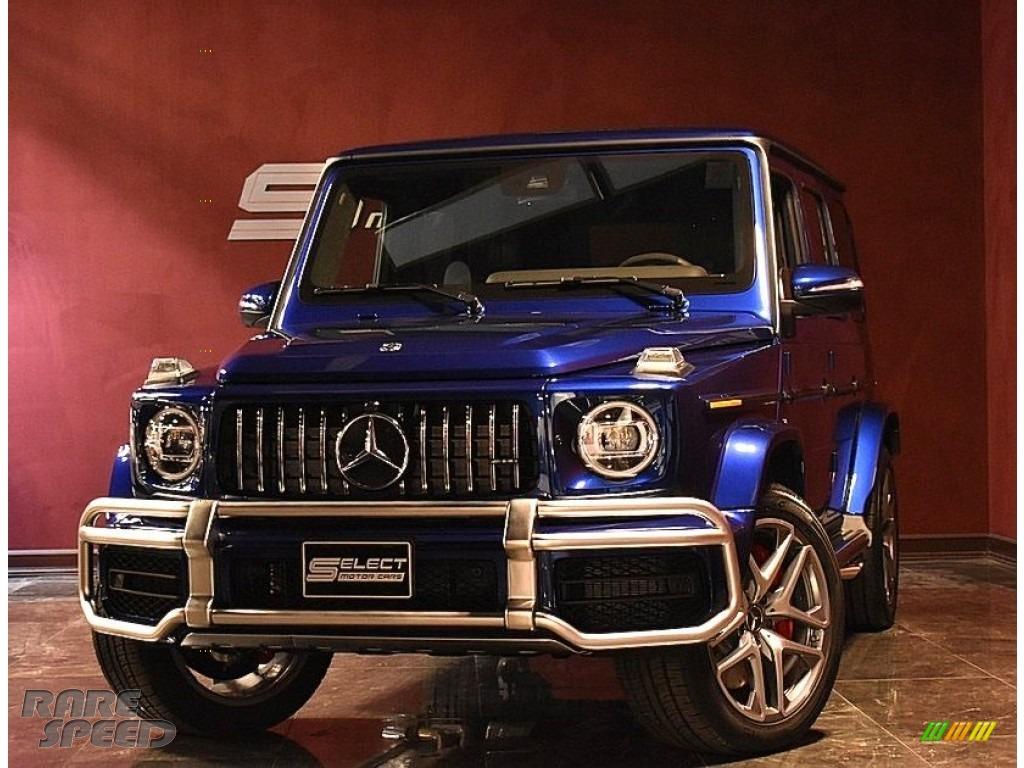 2020 G 63 AMG - Brilliant Blue Metallic / Black photo #1