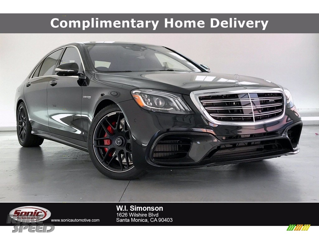 2020 S 63 AMG 4Matic Sedan - Obsidian Black Metallic / Black photo #1