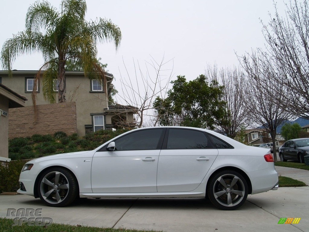 2012 S4 3.0T quattro Sedan - Ibis White / Black/Black photo #1