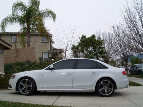 Ibis White 2012 Audi S4 3.0T quattro Sedan