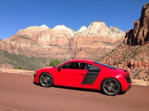Brilliant Red 2012 Audi R8 5.2 FSI quattro