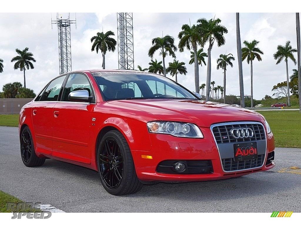 2008 S4 4.2 quattro Sedan - Brilliant Red / Black/Black photo #1