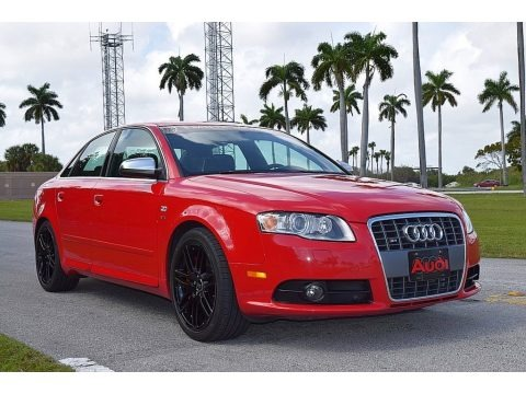 Brilliant Red 2008 Audi S4 4.2 quattro Sedan